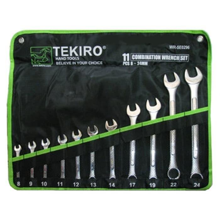TEKIRO Kunci Ring Pas set (11 Pcs) 8-24 mm TEKIRO