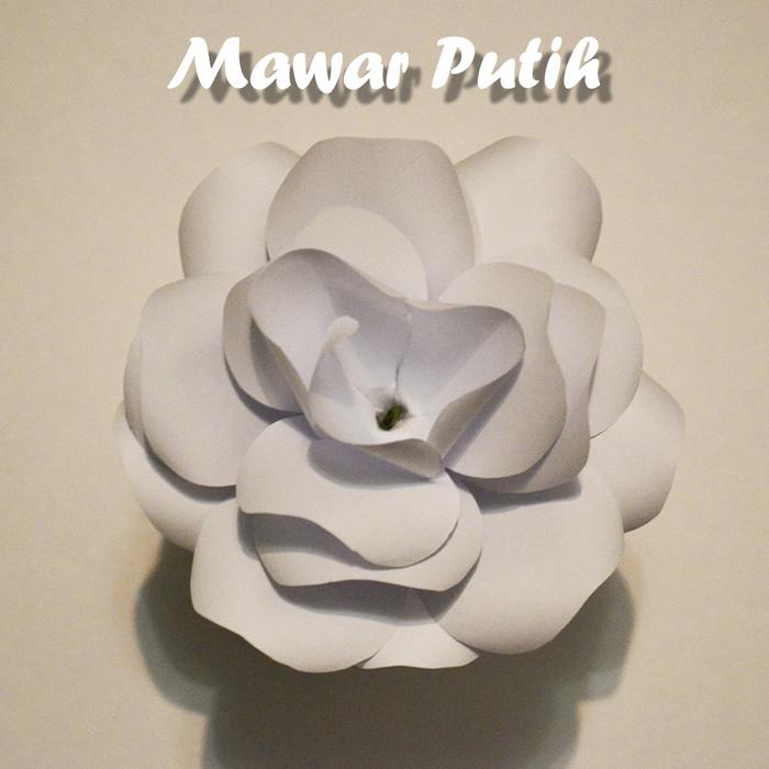 Jual White Rose Paper Flower Bunga Kertas Warna Putih Putih