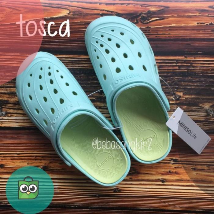 9969c155795 Jual BUY 1 GET 1 sendal sandal Miniso ladies clog wanita model croc ...