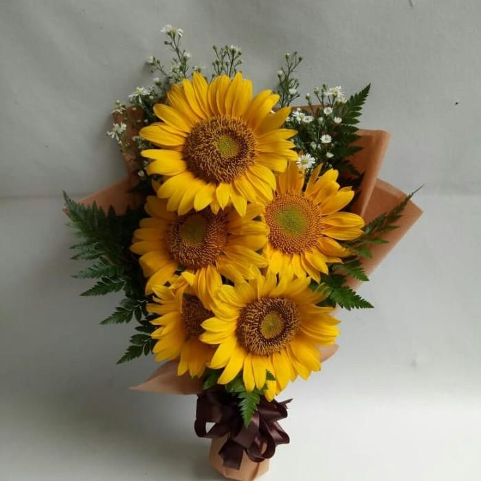 Jual Bucket Bunga Bucket Wisuda Sun Flowers Bunga Matahari
