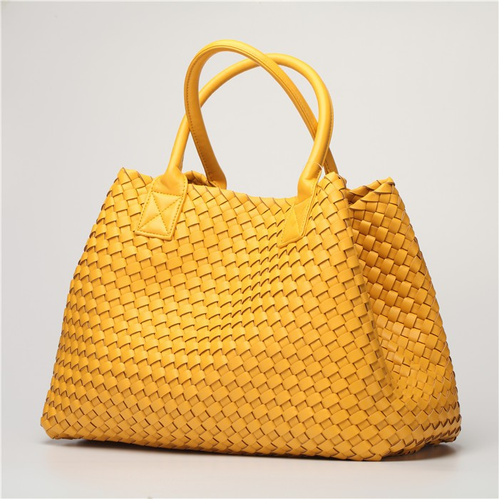 fb6403d30f Jual Fashion Luxury premium faux leather WOVEN CABAT Tote Bag High ...