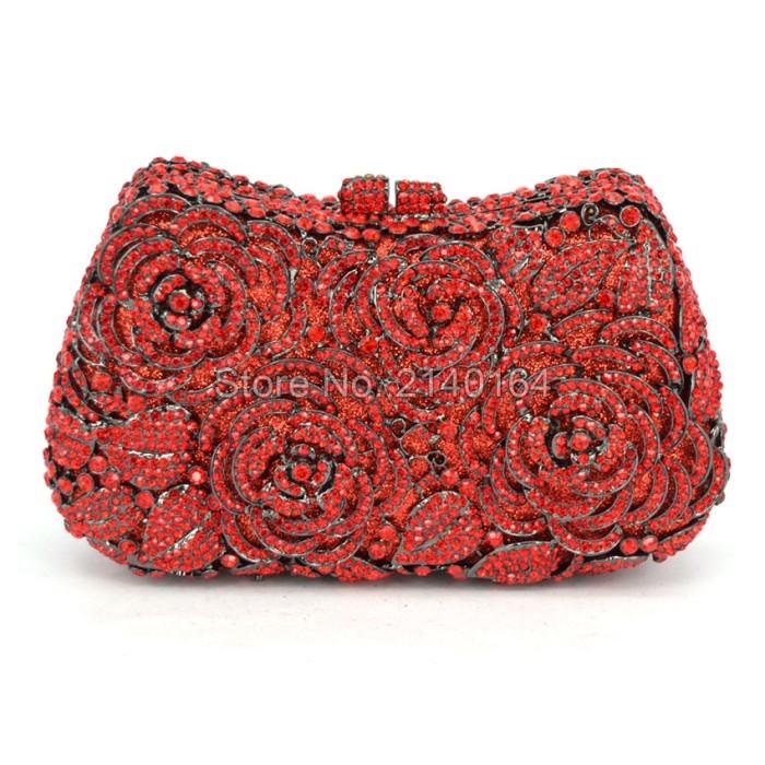 Jual Gift Box Lady gold Crystal Minaudiere Handbag Metal Clutches ... 7643b60b6fc4