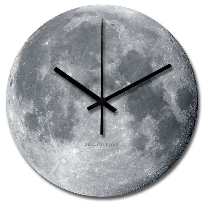 Jual Jam Dinding Unik Artistik - Moon Wall Clock - Nail Your Art ... 93004a0798