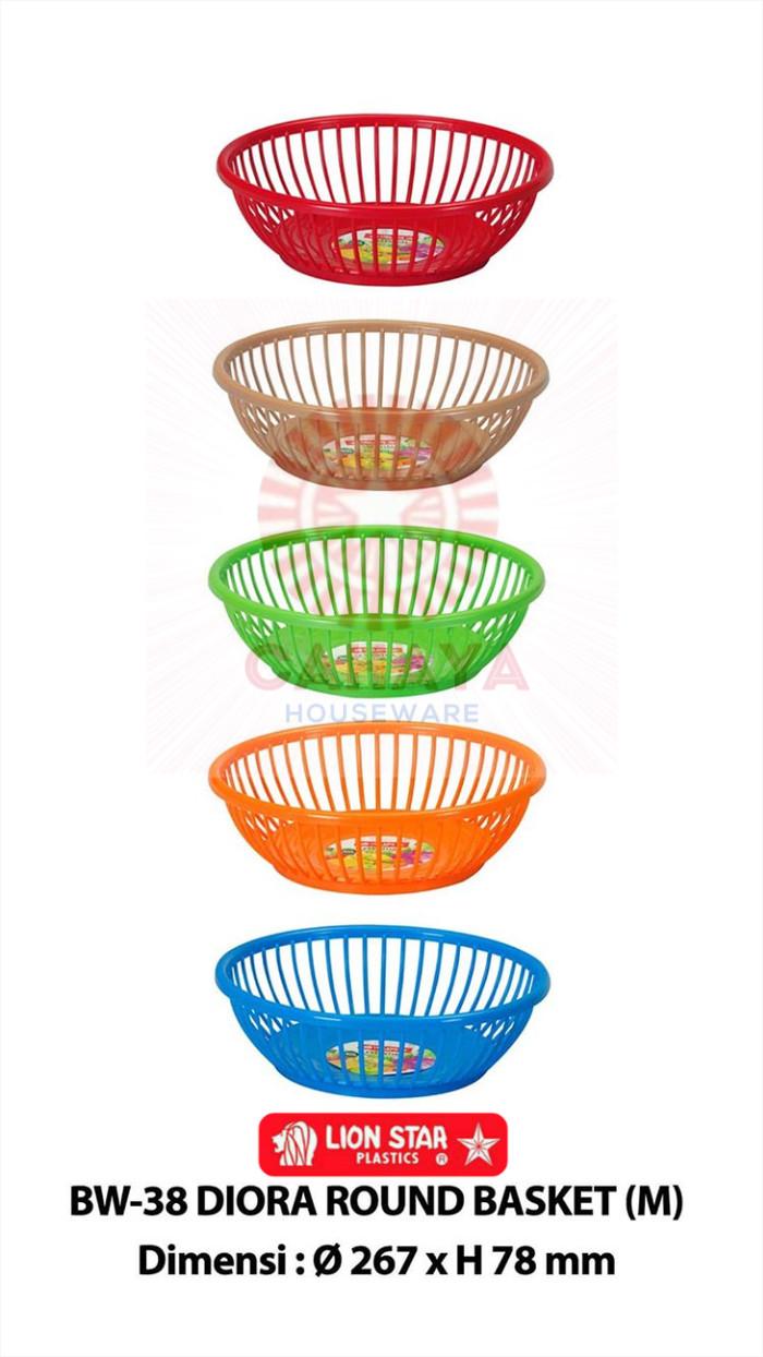 Jual Keranjang Parcel Buah Diora Round Basket Medium BW 38 Tempat Sayuran Kab Sleman Cahaya Houseware