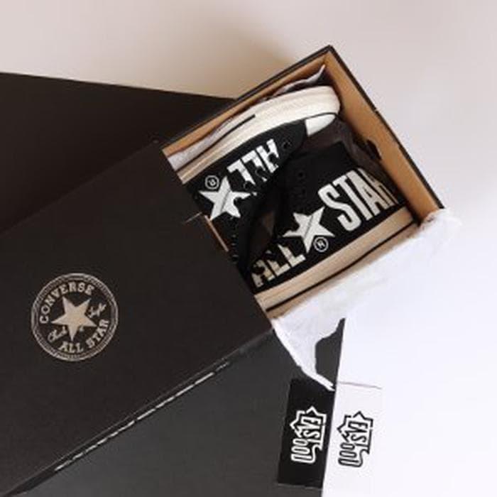 2e8539f01458 Jual Converse All Star 100 Colors Hi Big Logo Black White ...