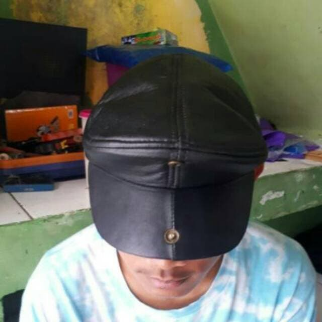 Original produk Topi PET kulit asli / topi kulit pria maher zein