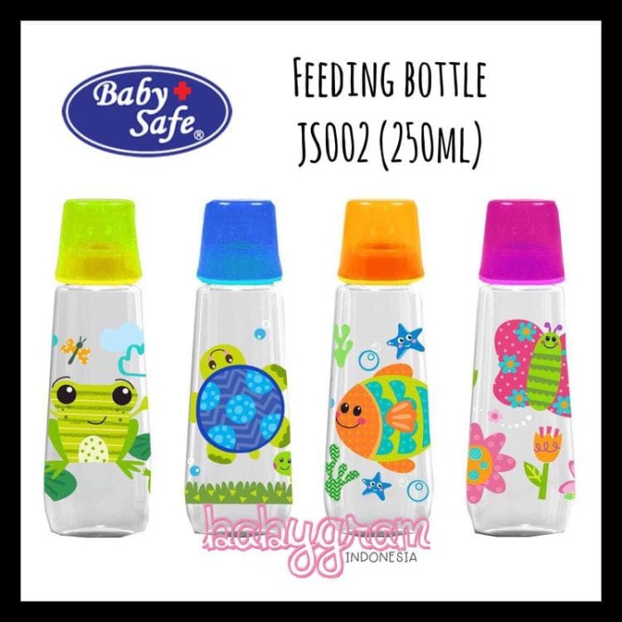 BOTOL SUSU BAYI BABY SAFE JS002 FEEDING BOTTLE 250ML BABYSAFE TERLARIS