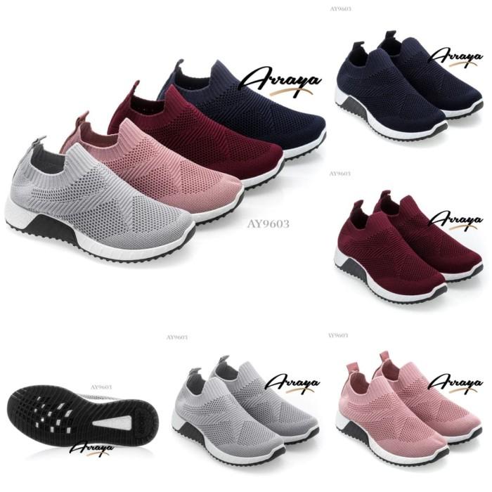 Jual sepatu arraya flyknit sneakers