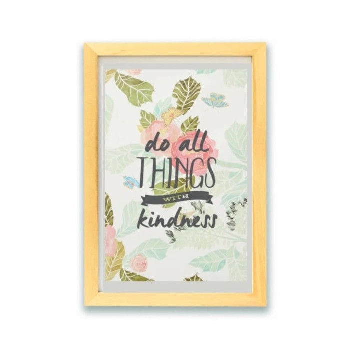 Jual Hiasan Dinding Poster Kayu Quotes Do All Things With Kindness Kota Malang Tas Kamera Pro Tokopedia