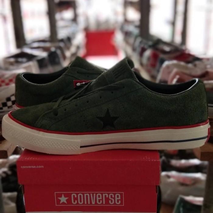 95e3887c4954 Jual Sepatu Converse One Star Ox Undefeated Olive White - Syam Shop ...