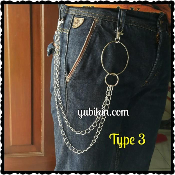 Foto Produk Rantai Dompet Celana Jeans Double Besi Silver + Ring Besi Bulat dari Yubikin Craft