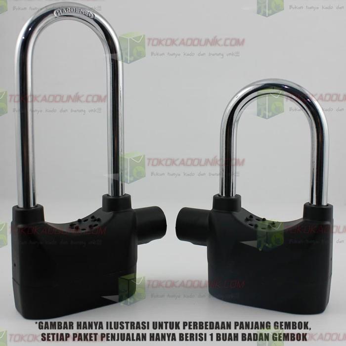 2 In 1 Gembok Alarm - Ring Panjang & Super Panjang Free Baterai
