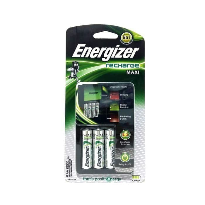Foto Produk Energizer maxi battery baterai cas charger recharge aa aaa a2 a3 isi 4 dari TB-ACC