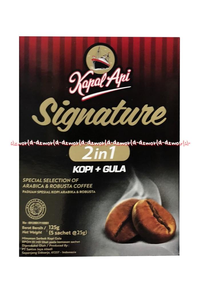 Jual Kapal Api Signature Arabica Robusta Coffee 5 Sachet 2in1 Kopi Arabika Jakarta Barat Dz World Tokopedia