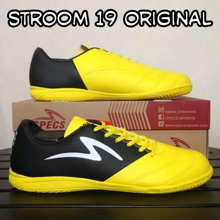 Jual Sepatu Futsal Specs Stroom 19 Kuning Hitam Ic Original