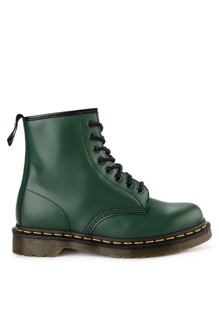 Sepatu Boots Original Dr. Martens 1460 8 Eye Leather - Green