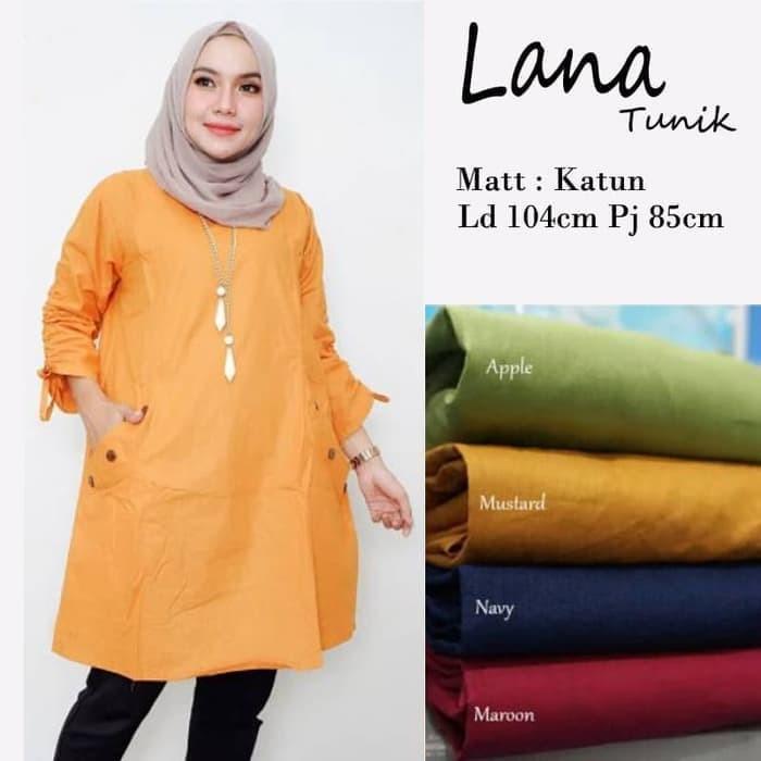 f3efd0eb44875d Jual Baju Atasan Wanita Baju Muslim Lana Tunik Blouse Blus Busana Muslim -  Maroon - Kota Bandung - Sodagar Fashion   Tokopedia