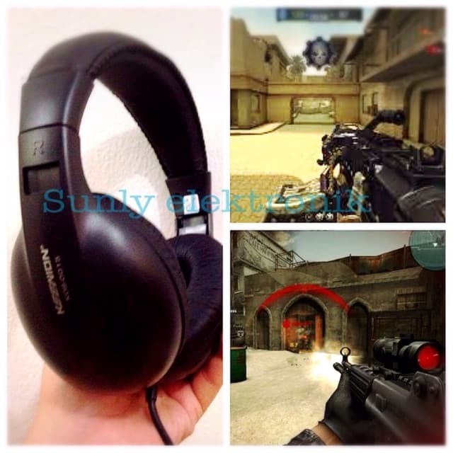 Headphone keenion extra bass stereo kos 0015 / pc gaming headset bando