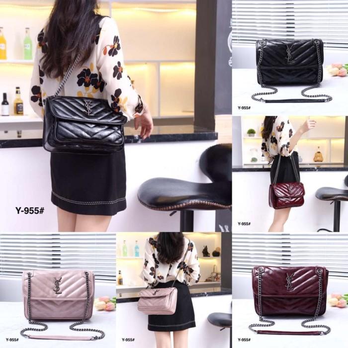 00b43ad05ff2 Jual YSL Niki Medium Monogram Vintage Leather Bag Code   Y-955 ...
