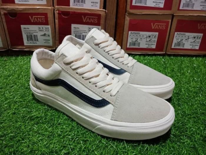 c4c24d2d980e Jual Sepatu Vans Old Skool Off White Navy Premium Bnib Sneakers Pria ...