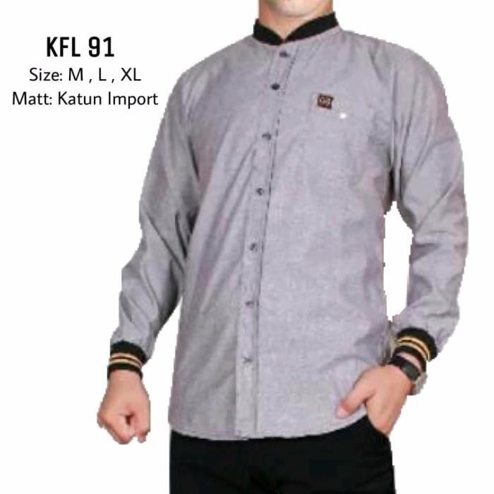 Jual Model Baru Baju Koko Modern Semi Slimfit Kl75 Kemeja Muslim Gamis Pri Kab Bandung Deni Collection45 Tokopedia