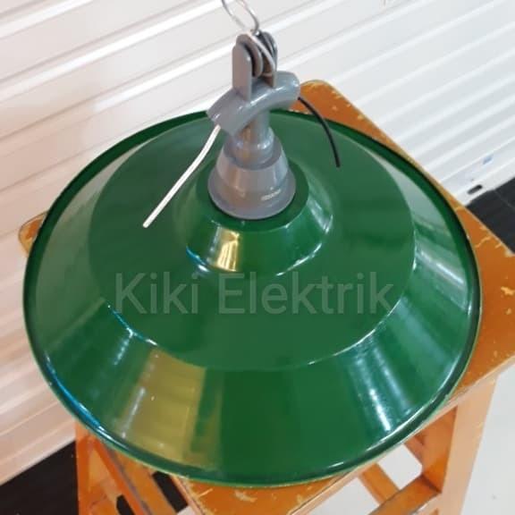 Kap Lampu Gantung WD Hijau + Fiting Set E27
