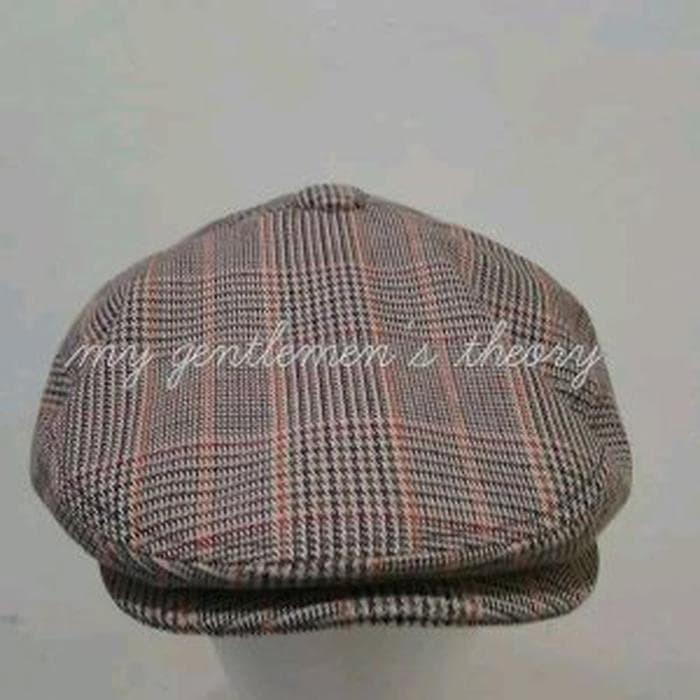 cc03cd30e Jual Flat cap -Driving cap - Newsboy cap wool sugar brown plaid -se Murah -  Ahmad Pradana | Tokopedia