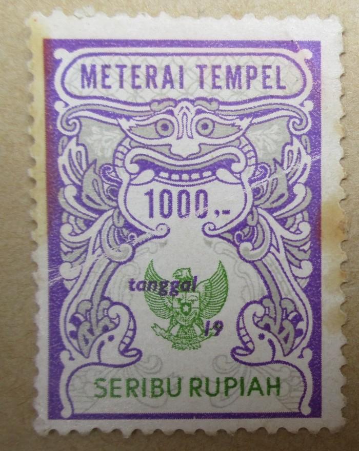 harga Materai 1000 rupiah tahun 1986 1987 1988 1989 1990  kondisi baru Tokopedia.com