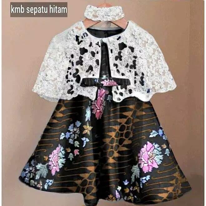 100 Model Baju Brokat Anak Kombinasi Batik Paling Hist