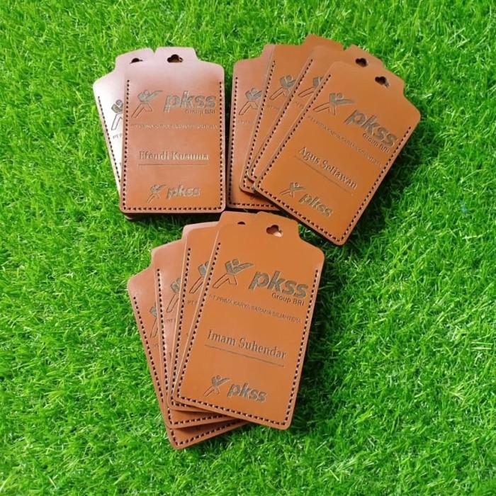 harga Id card holder kulit sapi asli premium 2 slot card Tokopedia.com