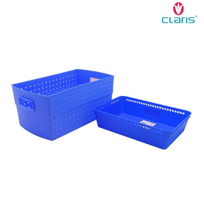 Claris Paket Meriah ( Nampan Keranjang organizer ) - Blue
