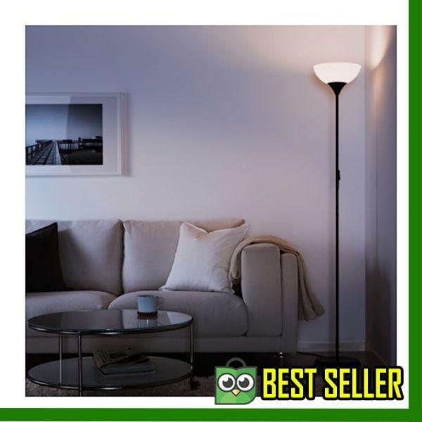 Asli IKEA NOT - Lampu lantai sorot atas hitam-putih Elegan