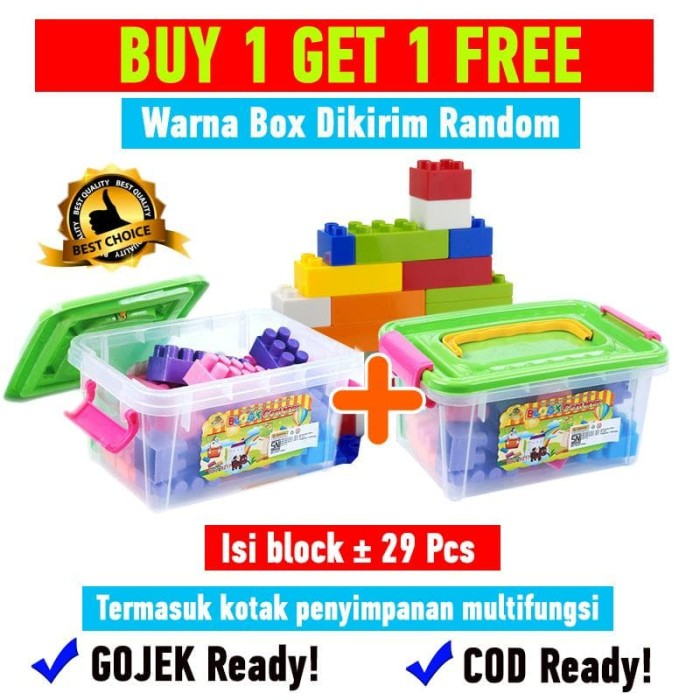 harga Buy 1 get 1 free creative block container mainan edukasi anak oct9217 Tokopedia.com
