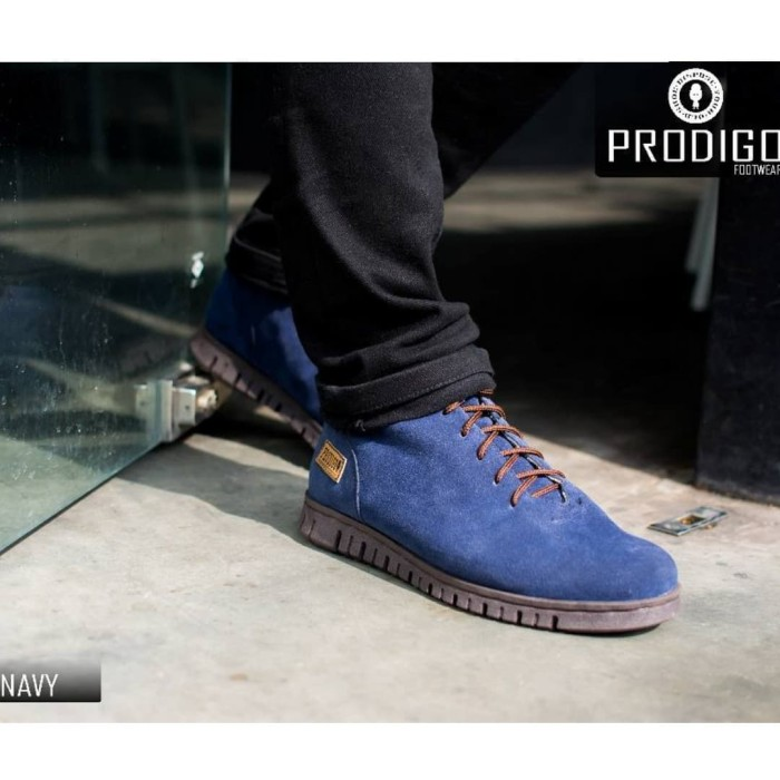 ORIGINAL PRODIGO PASOLA navy & back - Sepatu boots pria suede original