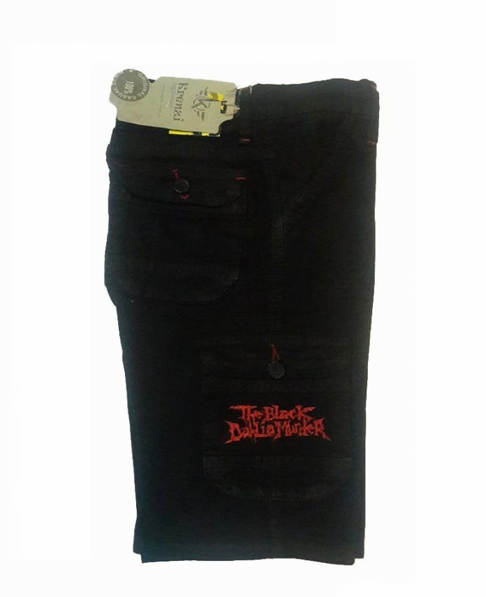 Jual Celana cargo pria dewasa PDS 003 celana pendek pria celana cargo hitam  - Hitam, 27 - D'VIA 505Red | Tokopedia