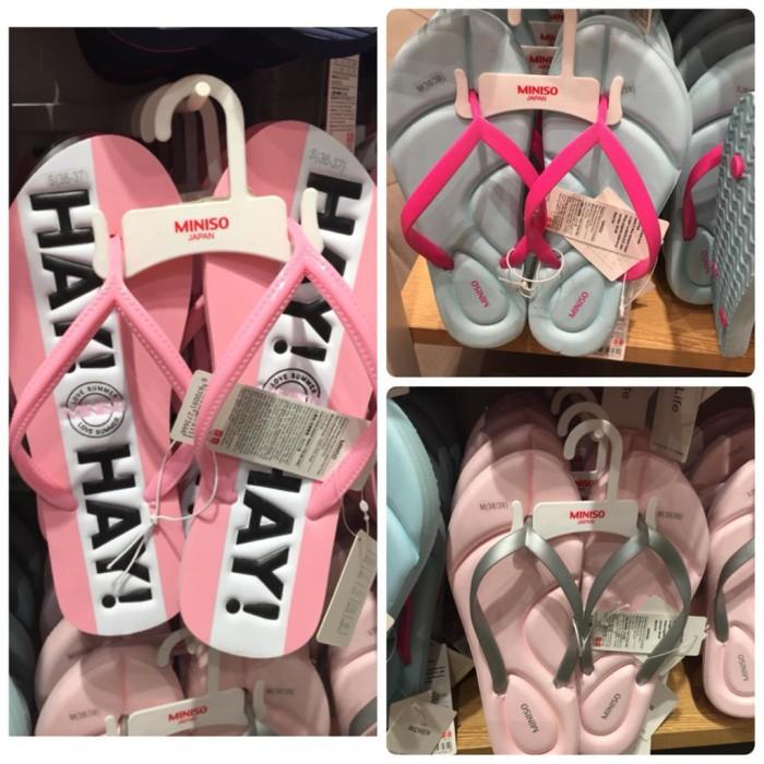 0beaf34287b Jual MINISO Flip Flops Ladies MINISO Sendal Jepit Wanita Sandal ...
