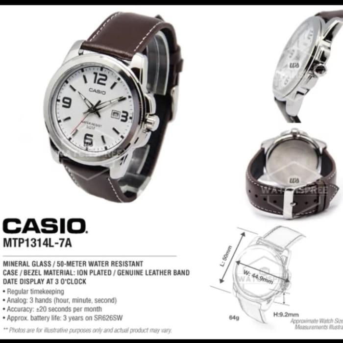 Jam Tangan Pria Casio MTP-1314L-7A Original