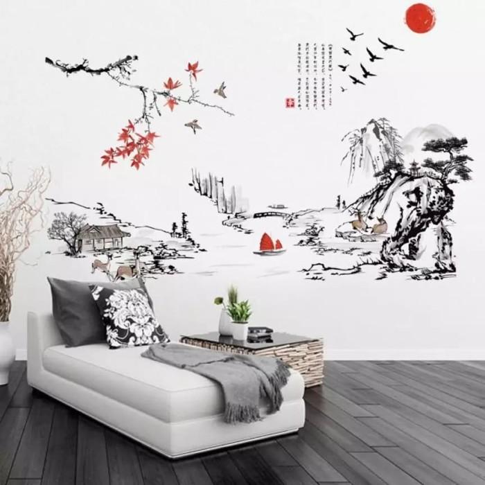 jual wallpaper sticker x-1064 japanese - wallpaper medan | tokopedia