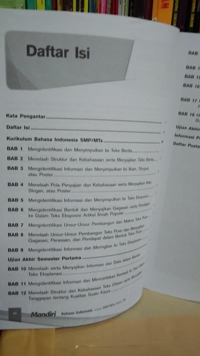 Jual Buku Smp Kelas 2 Mandiri Bahasa Indonesia 2 Untuk Smp Mts Kelas Viii Jakarta Barat Buku Smp Iman Tokopedia