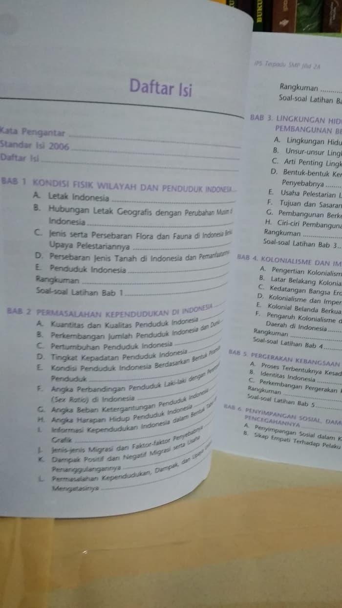 Jual Buku SMP Kelas 2 IPS TERPADU 2A SEMESTER 1 UNTUK KELAS VIII KTSP Jakarta Barat BUKU SMP IMAN