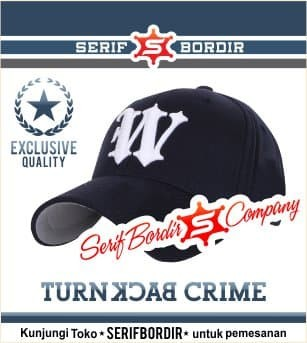 Topi Baseball Huruf W Hitam Bordir Cap Import Police Custom Distro