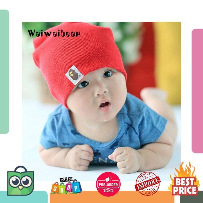 Lahir Bayi Topi Musim Dingin Hangat Topi Katun Lembut Topi Solid