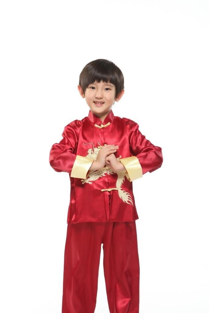 Baju cheongsam anak termurah / cheongsam set pria - size 2