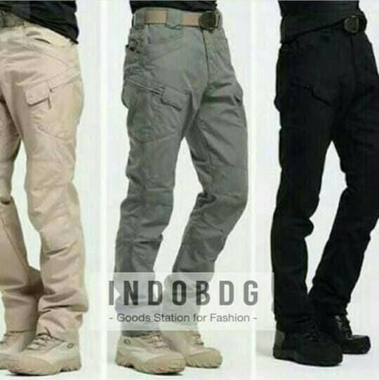 Celana Premium Pria Panjang Blackhawk Tactical Grey Abu abu