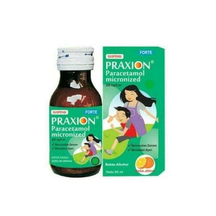 Praxion Forte Syr 60 Ml Rasa Jeruk Paracetamol - Blanja.com
