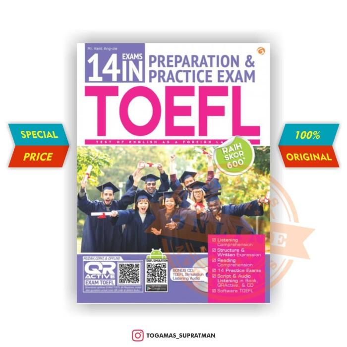 harga 14 exams in preparation & practice exam toefl + cd - mr. kent ang-zie Tokopedia.com