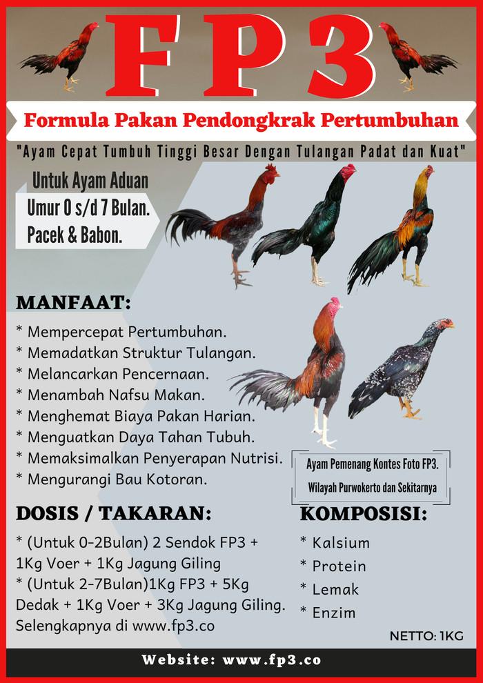 Jual Pakan Ayam Fp3 Untuk Mempercepat Pertumbuhan Dan Tulangan
