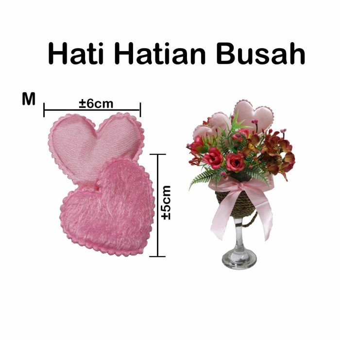 Foto Produk Hati Hatian Busa M 6pcs/Pack - Valentine - Dekorasi - Gift - Kado dari Florist Room