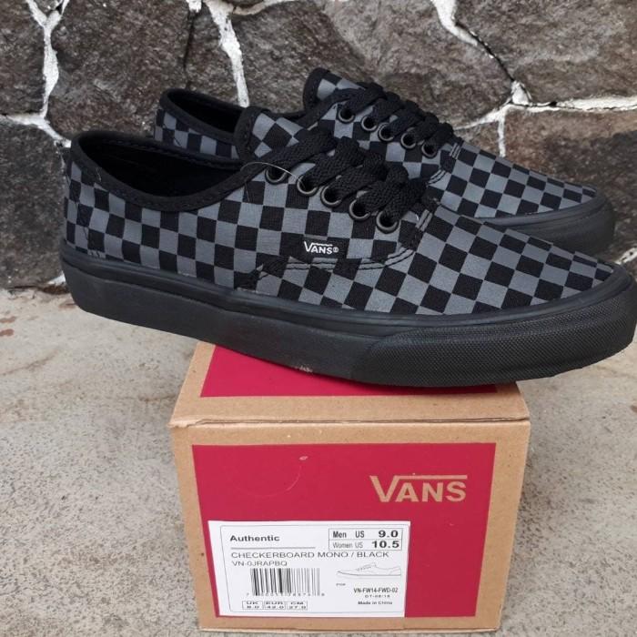 8406a8ea90 Jual sepatu vans authentic checkerboard mono black - bobzshop ...