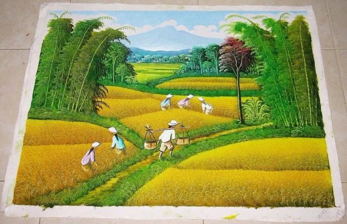 Jual Model Baru Lukisan Feng Shui Pemandangan Alam Dan Panen Padi Jakarta Barat Toko Binalia Tokopedia